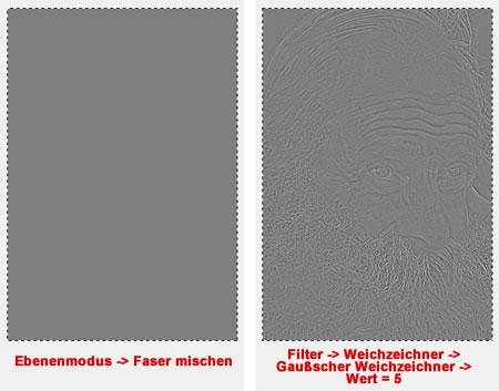 Ebenenmodus & Gaußscher Weichzeichner