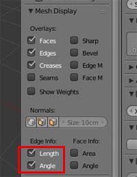 Blender Length & Angle