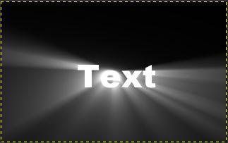 Text zentriert und Ebenengröße angepasst