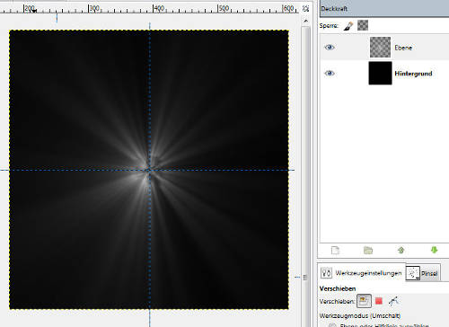 Gimp Light Burst Effect