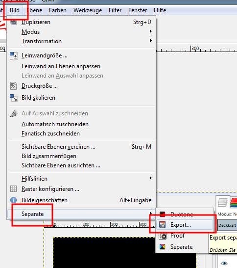 CMYK-Datei exportieren