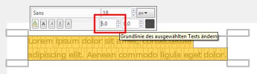 Zeilenabstand verändern bei Inkscape