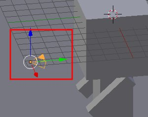 Kamera mit rechter Maustaste markiert