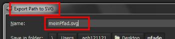 Pfad als SVG exportieren