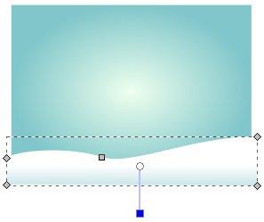 Schneemasse mit linearem Farbverlauf
