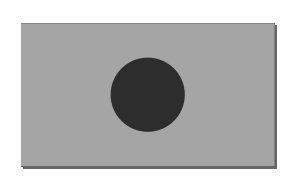 Dunkelgrauer Kreis, mittig ausrichten