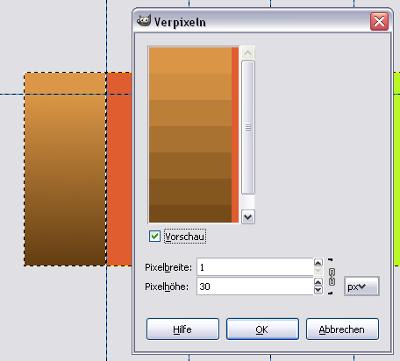 Verpixeln-Filter einstellen mit Vorschau