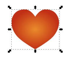 Herz mit radialem Verlauf