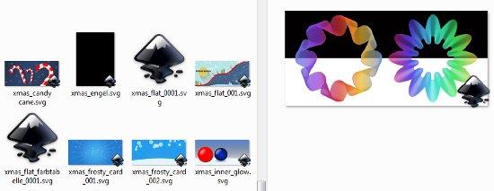 Inkscape-Windows SVG Preview