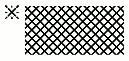 Inkscape Metal Grid