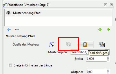 Inkscape Muster entlang Pfad II