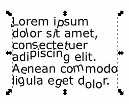 Inkscape 0.92.1 Text