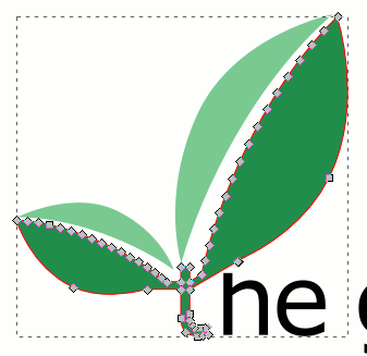 Inkscape Cutting Easy Leaves