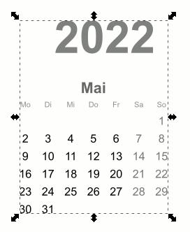 Inkscape Kalender