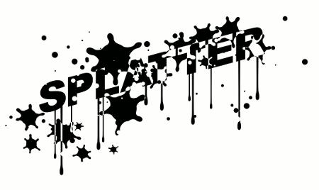 Inkscape Splatter Effect