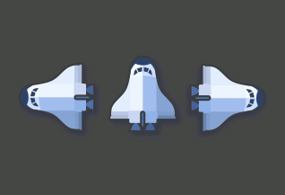 Inkscape Space Shuttle for Games
