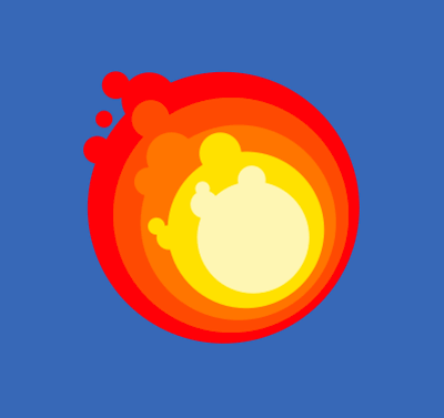 Inkscape Game Fireball