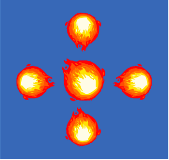 Inkscape Game Fireball