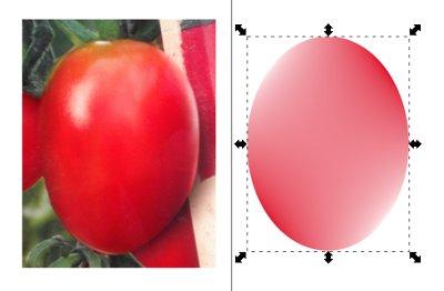 Inkscape Verlaufsgitter Tomate