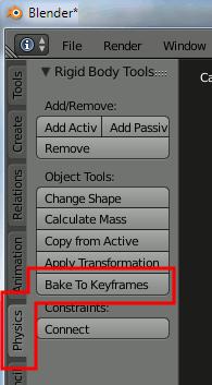 Blender Bake To Keyframes