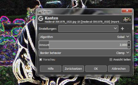 Gimp 2.10.0 RC1 Vorschau
