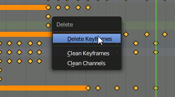 Blender delete Keyframes