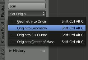 Blender Origin to Geometrie
