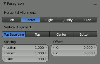 Blender Text Align
