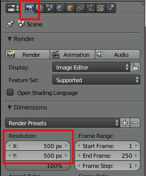 Blender Resolution