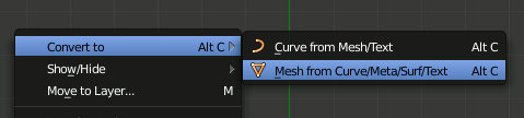 Blender Mesh from Curve