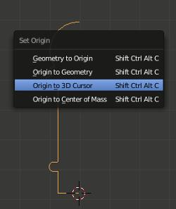 Origin to 3D Cursor