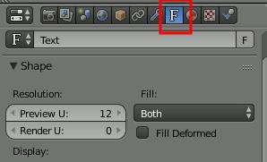 Blender select Font