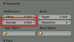 Blender Text Extrude