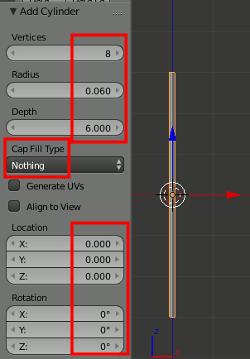 Blender add Cylinder
