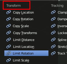 Blender Limit Rotation