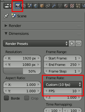 Blender Frames per Second