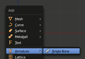 Blender Add Bone
