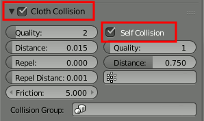 Blender Cloth Self-Collision