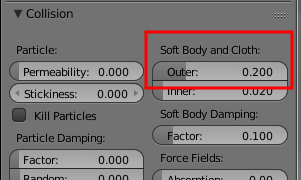 Collision Soft Body and Cloth
