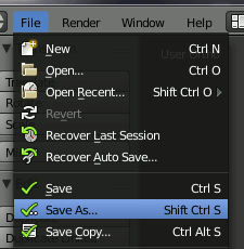 Blender Save Blend-File
