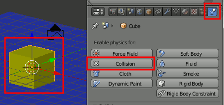 Blender Object Collision
